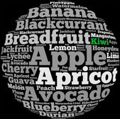 Fruits info-text graphics — Stock Photo
