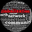 Stock Photo: Globalization info-text graphics