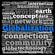Globalization info-text graphics — Stock Photo