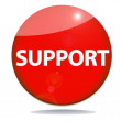 Support red icon — Foto Stock
