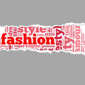 Torn Paper with fashion info-text graphics — Stock Photo
