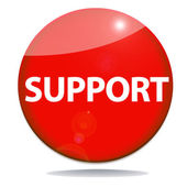 Support red icon — Stock Photo