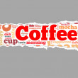 Coffee info-text graphics — Stock Photo