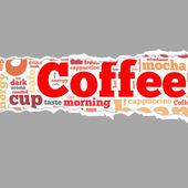 Coffee info-text graphics — Stock Photo