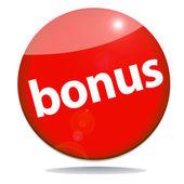 Bonus red icon — Stock Photo