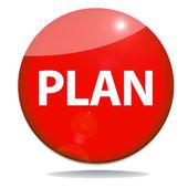 Plan red icon — Stock Photo