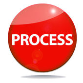Process red icon — Stock Photo