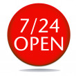 24 hour open icon — Stockfoto