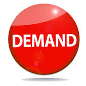 Demand red icon — Stock Photo