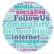 Social media info-text graphics and arrangement concept (word cloud) — Stock Photo