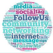 Social media info-text graphics and arrangement concept (word cloud) — Stock Photo