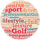 Golf info-text graphics — Stock Photo