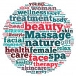 Massage and spa info-text graphics — Stock Photo
