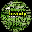 Stockfoto: Sweet couple info-text graphics
