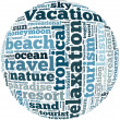 Vacation info-text graphics — Stock Photo