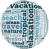 Vacation info-text graphics — Stock Photo