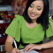 Young asian muslim businesswomen busy at work — Stock Photo