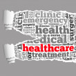 Torn Paper with healthcare info-text graphics — Stock Photo