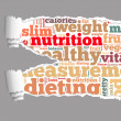 Torn Paper with nutrition info-text graphics — Stock Photo
