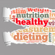 Torn Paper with healthy info-text graphics — Stock Photo