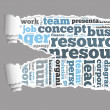 Torn Paper with human resources info-text graphics — Stok fotoğraf