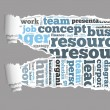 Torn Paper with human resources info-text graphics — Stockfoto