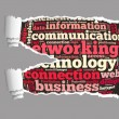 Torn Paper with networking info-text graphics — Stock Photo