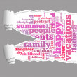 Stock Photo: Torn Paper with vacations info-text graphics
