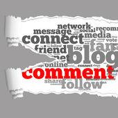 Zerrissenes papier mit kommentar-info-text-grafik — Stockfoto