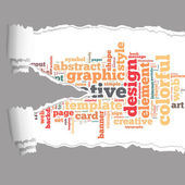 Torn Paper with graphic design info-text graphics — Stock Photo