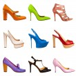 Multicolored female shoes-20 - Stock Photo