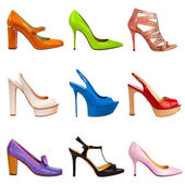 Multicolored female shoes-20 — Stock Photo