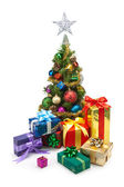 Christmas tree&gift boxes-11 — 图库照片