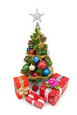 Christmas tree&gift boxes-7 — ストック写真