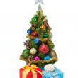 Royalty-Free Stock Photo: Christmas tree&gift boxes-13