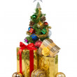 Christmas tree&gift boxes-20 — Stock Photo