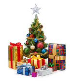 Christmas tree&gift boxes-15 — Stock fotografie
