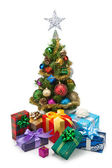 Christmas tree&gift boxes-16 — Stock fotografie