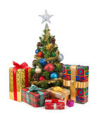 Christmas tree&gift boxes-18 — 图库照片