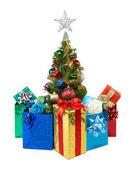 Christmas tree&gift boxes-19 — Stock Photo