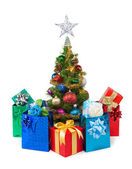 Christmas tree&gift boxes-22 — Foto de Stock