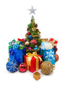 Christmas tree&gift boxes-23 — Stock fotografie