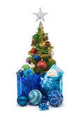 Christmas tree&gift boxes-25 — Stock Photo