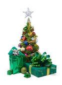 Christmas tree&gift boxes-26 — Stock Photo
