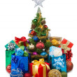 Christmas tree&gift boxes-27 — Stock Photo