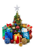 Christmas tree&gift boxes-27 — Stock fotografie