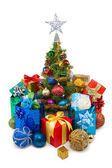 Christmas tree&gift boxes-29 — Stock Photo