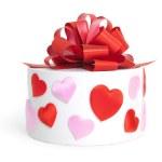 Heart&gift box- — Stock Photo