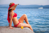 Woman&coast-79 — Stockfoto