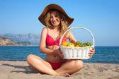 Kobieta idealna wybrzeża-130 — Zdjęcie stockowe